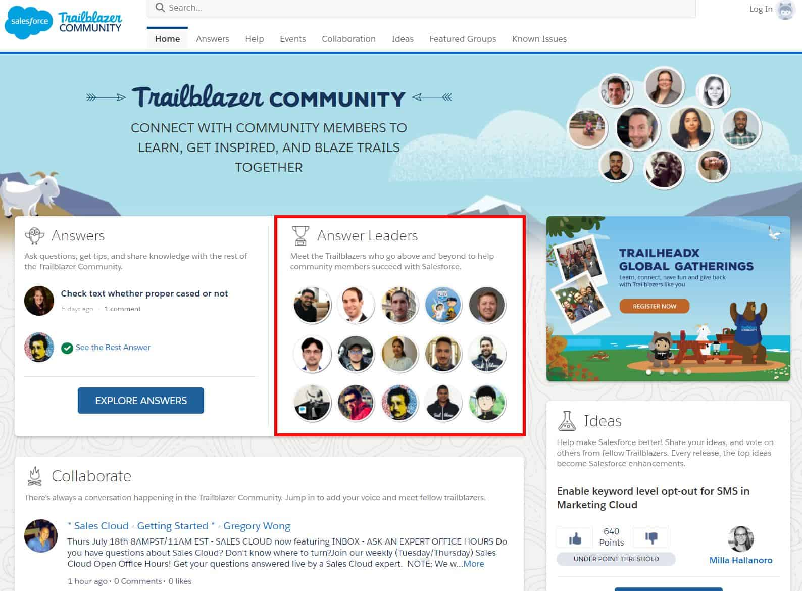 Salesforce success page