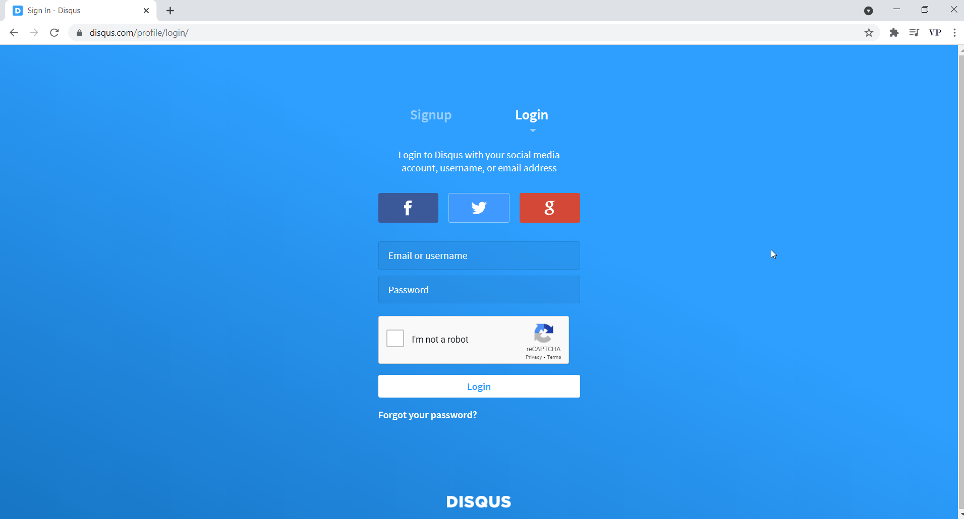 Create a free account on Disqus