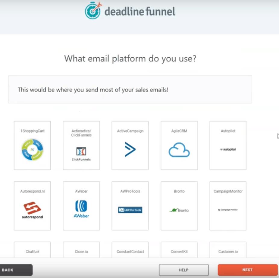 Deadline Funnel Email Marketing Platform Selection
