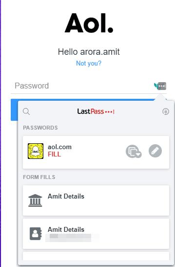Lastpass Form Fill