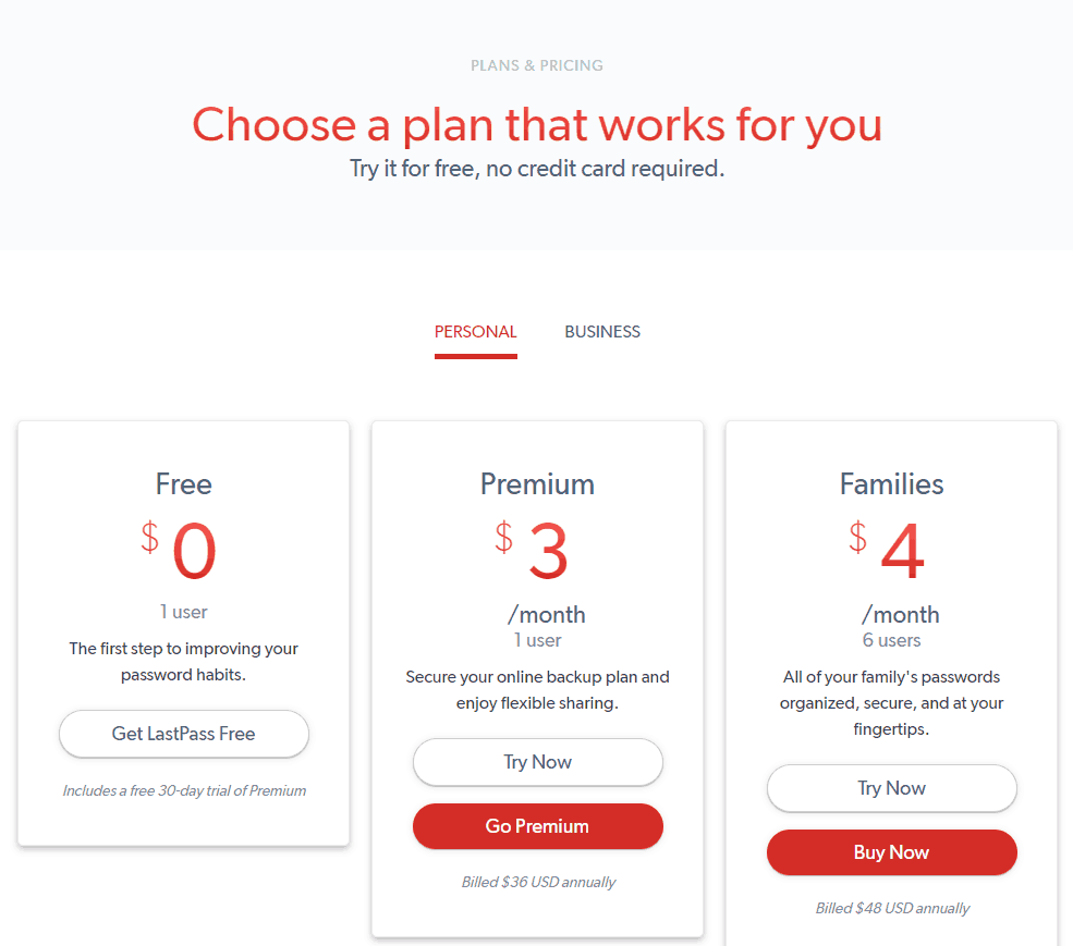 Lastpass Pricing