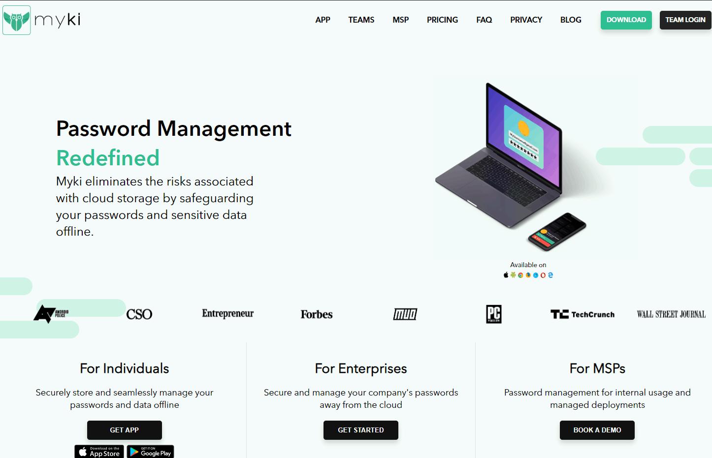 Myki Homepage
