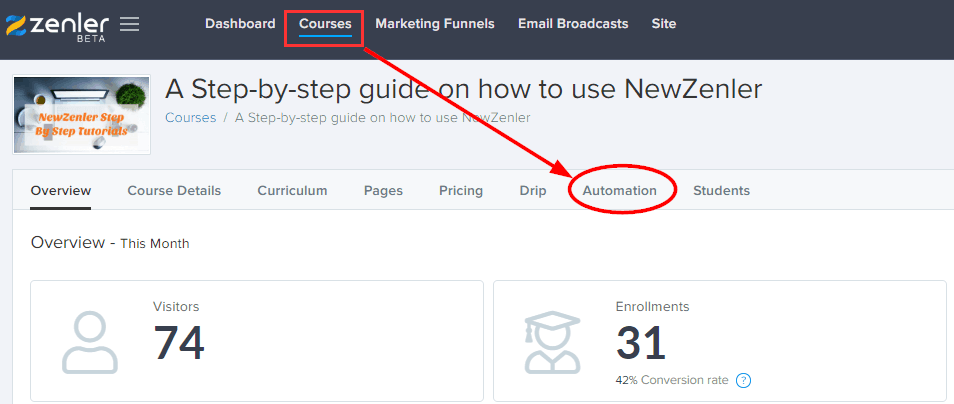 How to Send Automated Emails With New Zenler 1