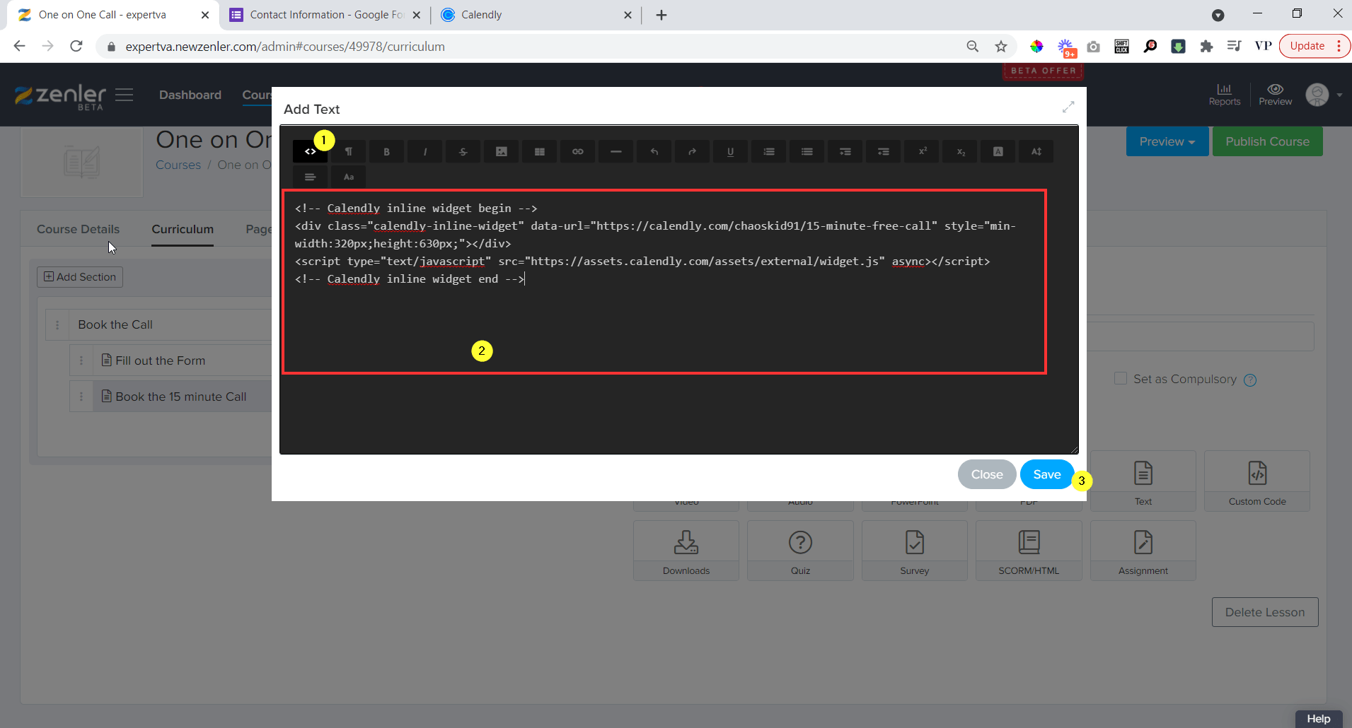 open code editor and paste the code and click on save